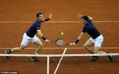 The Murray brothers defeated the Belgium pair of David Goffin and Steve Darcis 6-4, 4-6, 6...
