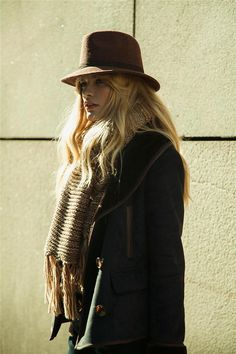 dustjacket attic: Fashion Inspiration | Bohemian Style: Coats, Hats & Scarves