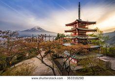 Chureito Pagoda with Fujisan