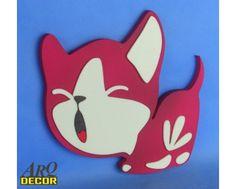 Bordowy Kotek - Dekoracje Do Przedszkola, Pokój Dziecięcy (NA ZAMÓWIENIE) - ARQ - DECOR | Pracowania Dekoracji ARQ DECOR
