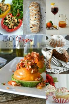 50 Mouthwatering Vegan Christmas Dinner Recipes   Christmas dinner ideas from top vegan bloggers - great for Thanksgiving too! Healthy eating!!