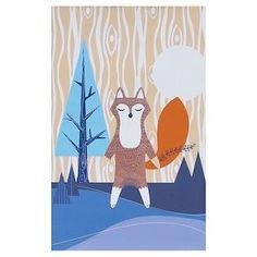"""Lolli Living Deer Canvas Art - Brown/Blue (15""""x15"""")"""