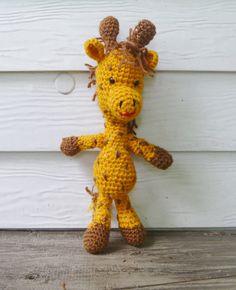 Crochet Amigurumi Giraffe Stuffed Animal/Doll by CedarFairHome, $22.50