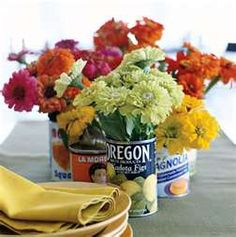 Marry You Me: DIY: Vintage tin can vase