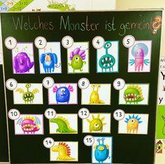 Cute Monsters, School Hacks, Back To School, Kindergarten, Crafts For Kids, Teaching, Education, Math, Holiday Decor