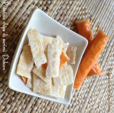 Patatine di surimi chips Dukan dieta ricetta Dairy, Bread, Cheese, Food, Dukan Diet, Brot, Essen, Baking, Meals