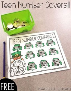 Teen Number Coverall - Playdough To Plato
