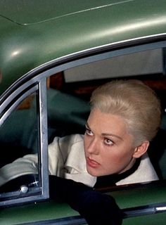 Kim Novak as Madeleine Elster in 'Vertigo', 1958 - After Scottie (James Stewart) & Midge (Barbara Bel Geddes) visit a local historian, that explains about the legend of Carlotta Valdes, who committed suicide. Elster reveals that he thinks his wife, Madeleine (the great grand daughter) of Carlotta has no knowledge of her excursions to these places in San Francisco & is somehow in danger.
