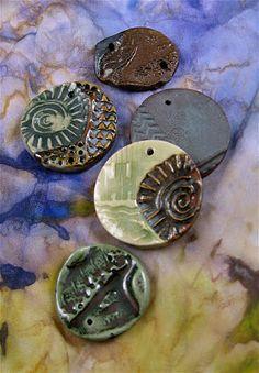 Slip-glazed ceramic beads