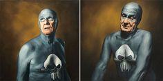 Aging Superhero – Série de pinturas apresentam o envelhecimento de um super-herói | Magnatas