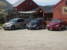 PT Cruisers at Vermont Country Store