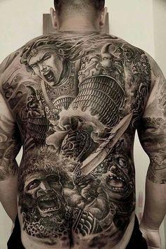 Hailin Tattoo, the tattoo studio of master tatoo artist Hailin Fu located in Hollywood, Los Angeles. Winner of 2016 National Tattoo Association Tattoo Convention Best Tattooist Award. Chicano Tattoos, Dope Tattoos, Dream Tattoos, Body Art Tattoos, Girl Tattoos, Future Tattoos, Tattoo Ink, Tatoos, Back Tattoos For Guys
