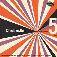 Symphony No. Opus 47 by Dmitri Shostakovitch Cover designer unknown. [via Symphonie Fantastique] Lp Cover, Vinyl Cover, Cover Art, Music Covers, Album Covers, Lps, Logo Label, Album Cover Design, Music Artwork