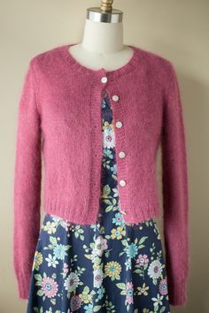 "A sweet cropped cardigan to wear over a spring frock.  Kim Hargreaves' ""Hushed"" Project"