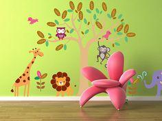Vinyl Wall Decal Kids Animal Wall Art Tree Decal by NurseryWallArt, $99.99