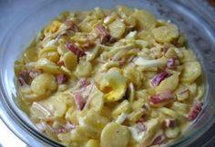 Krumplisaláta gazdagon | NOSALTY Veggie Recipes, Salad Recipes, Dinner Recipes, Cooking Recipes, Veggie Meals, Hungarian Cuisine, Hungarian Recipes, Cold Dishes, Macaroni And Cheese