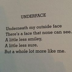 'Underface' – Shel Silverstein - More at: http://quotespictures.net/22347/underface-shel-silverstein