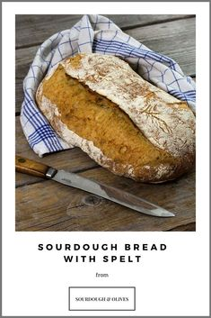 This sourdough spelt bread has a nice taste that only spelt flour can provide. Add a fantastic, crunchy crust and lots of nutrition compared to wheat bread, and you have a winner.