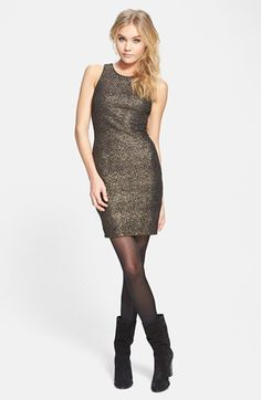 ASTR Twist Strap Metallic Body-Con Dress available at #Nordstrom