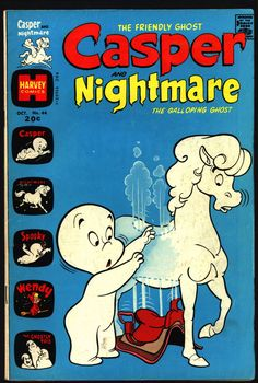 Casper the Friendly Ghost and Nightmare #44 1974 Ghostly Trio Wendy Witch Harvey Comics