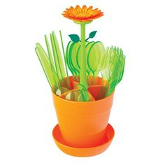 Nzsale - Flower Power Cutlery Set with Drainer