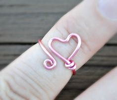 Wire RingToe Ring Knuckle Ring Midi Ring Wire by LorisWireJewelry