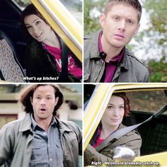 I miss Charlie. She's one of my favorite Supernatural characters [gifset] There's No Place Like Home Supernatural Season 10, Supernatural Memes, Supernatural Charlie, Winchester Boys, Winchester Brothers, Super Duo, Jared Padalecki, Jensen Ackles, Impala 67