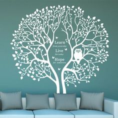 Night Owl Tree Wall Decals - WallDecal