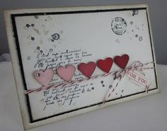 "Here's the projects for my ""Hearts a Flutter"" Valentine Class today and Saturday! ©Stampin'Up!™1990-2013 First project, ""That's the Ticket"" Giftcard-Candyholder I showed you recently: ©Stampin'Up!™1990-2013 A ""Hershey's Heart"" Box inspired by Brenda Quintana: ©Stampin'Up!™1990-2013 The ""Hershey's Kiss Heart"", also inspired..."