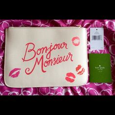 "Kate Spade Gia Merrion Square Clutch. Rare!  For the authentic Kate Spade stylish woman! This wonderful clutch is a great addition to your style. Tres Chic! NWT and authentic, of course! Rare and gorgeous!!! What a statement piece.  Tag and care card included. Measures 10"" X 7""  NO CHEAPSKATES! This is a great piece.  kate spade Bags Clutches & Wristlets"
