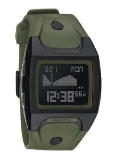 Nixon Lodown Tide Watch, Matte Black / Surplus. $90. The perfect surf watch.