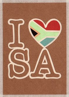 'i heart south africa' handmade postcard designs Postcard Design, South Africa, My Heart, Display, Snail Mail, My Love, Paper Craft, Postcards, Happy