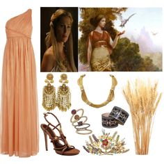 """""""Demeter (Goddess of the Harvest and Agriculture)"""" by lilacmayn on Polyvore"""