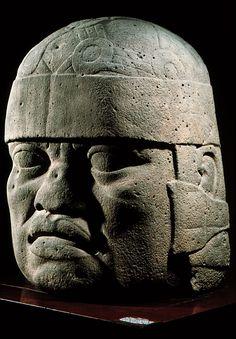 Olmec Colossal Head No. 6, basalt, 1000-600 B.C., San Lorenzo, Tenochtitlan, Mexico