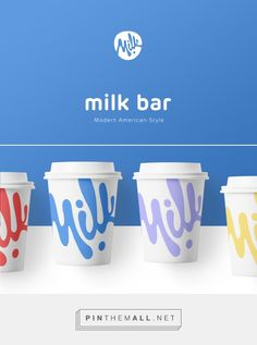 Modern Milk Bar on Behance Milk Packaging, Brand Packaging, Branding Agency, Logo Branding, Logo Luxury, Milk Brands, Web Design Agency, Label Design, Package Design