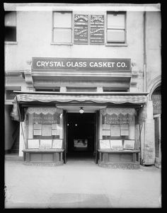 Crystal Glass Casket Co Store Front 1900 Reprint Of Old Photo Antique Photos, Old Photos, Cheap Furniture, Furniture Market, Furniture Logo, Metal Furniture, Thats The Way, Casket, Store Fronts