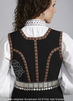 Nordfjordbunad til dame - Bunadrosen AS Norway, Sweden, Scandinavian, Ruffle Blouse, Costumes, Tops, Fashion, Moda, Dress Up Outfits