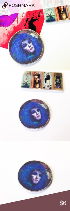 """🆕 Madame Leota Pin - Haunted Mansion ***All brooches are 3 for $15, create a bundle and offer $15 - I will accept as soon as I see it, thank you! (Offer applies to all brooches in my closet - mix and match)***  Handmade brooch with a Madame Leota charm.  We offer 15% off on all bundles. You can """"Add to Bundle"""" to get discount.  Most items listed are ready to ship but if you need something sooner please let us know before ordering. Artwork shown is by SpooksieBoo .  Thank you for shopping my…"""