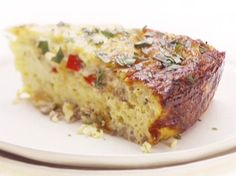 Baked Gruyere and Sausage Omelet Recipe : Giada De Laurentiis : Food Network