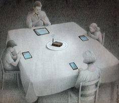 Dark Political Cartoons Show How Polish illustrator Pawel Kuczynski // Technology Is Our New Master | The Creators Project