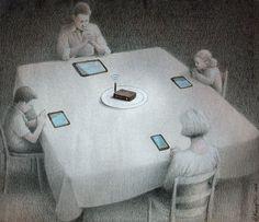 Dark Political Cartoons Show How Polish illustrator Pawel Kuczynski // Technology Is Our New Master | The Creators Project