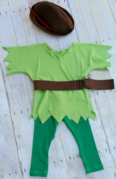 Peter Pan Inspired Costume for Infants by EmeraldBelleDesigns