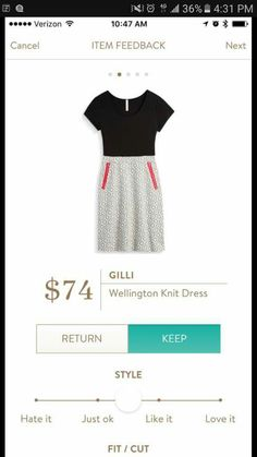 :: I almost never wear dresses but I LOVE this one! Gilli Wellington Knit Dress