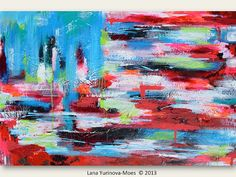New American Flag ABSTRACT Original Painting - ABSTRACT EXPRESSIONISM - United 21