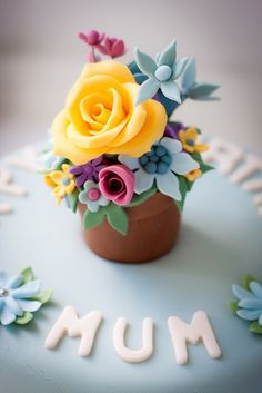 Food Ideas Mothers Day 2017 Beautiful ideas for my cupcakes Fancy Cakes, Mini Cakes, Cupcake Cakes, Cupcake Art, Pretty Cupcakes, Beautiful Cupcakes, Flower Cupcakes, Yummy Cupcakes, Occasion Cakes