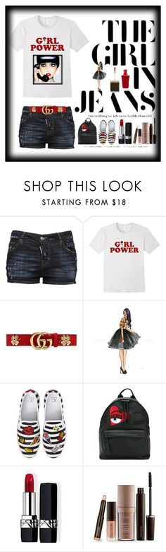 """Jeans"" by bren-johnson ❤ liked on Polyvore featuring Dsquared2, Gucci, BP., Chiara Ferragni, Christian Dior, Laura Mercier and Tom Ford"
