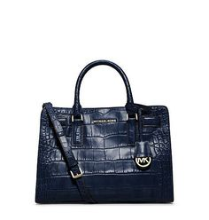 Michael Kors Dillon Ew Satchel Embossed Leather in Navy M... http://www.amazon.com/dp/B00RX3N5MM/ref=cm_sw_r_pi_dp_WIPjxb08KPN5T
