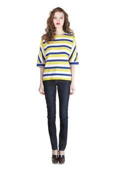 Brea Stripe Crewneck Sweater