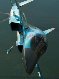 A real beauty! Military Jets, Military Aircraft, Air Fighter, Fighter Jets, Su 34 Fullback, Russian Plane, Airplane Flying, Russian Air Force, Spaceship Design
