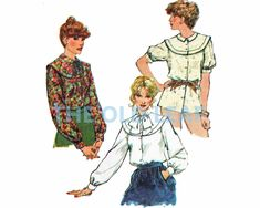Sewing Pattern for 70s Blouse with Pilgrim Collar, Simplicity 9139 #70sFashion #1970sShirts #PilgrimCollar #BerthaCollar #OversizedCollar #PlusSizeSewing #TheOldLeaf